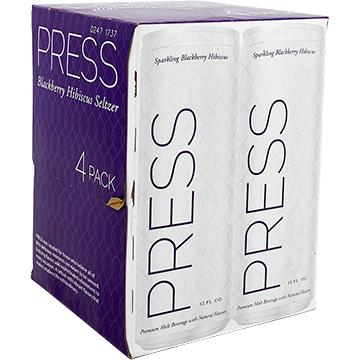 PRESS Sparkling Blackberry Hibiscus Seltzer