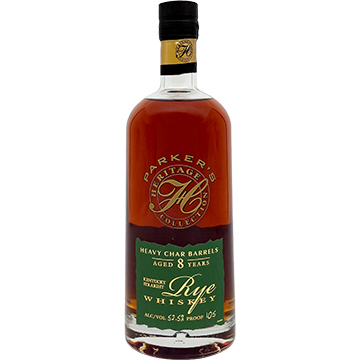 Parker's Heritage Collection 8 Year Old Heavy Char Barrels Rye Whiskey