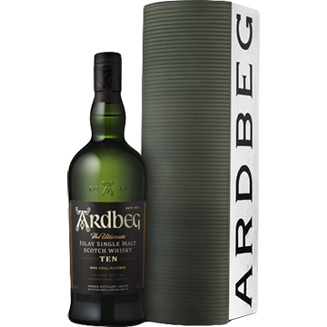 Ardbeg 10 Year Old Islay Single Malt Scotch Whiskey Warehouse Gift Pack