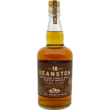 Deanston 18 Year Old Bourbon Cask Finish Single Malt Scotch Whiskey