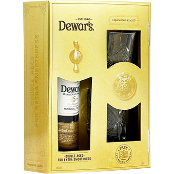 Dewar's 15 Year Old Gift Set with 2 Rock Glasses