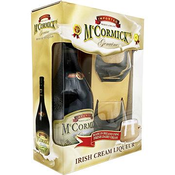 McCormick Irish Cream Liqueur Gift Set with Glass