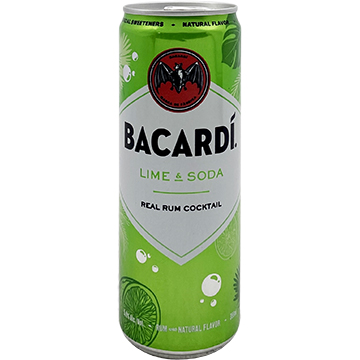 Bacardi Lime & Soda Real Rum Cocktail