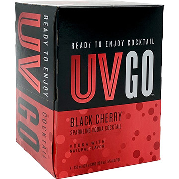 UV GO Black Cherry Sparkling Vodka Cocktail