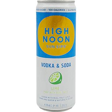 High Noon Sun Sips Lime Vodka & Soda