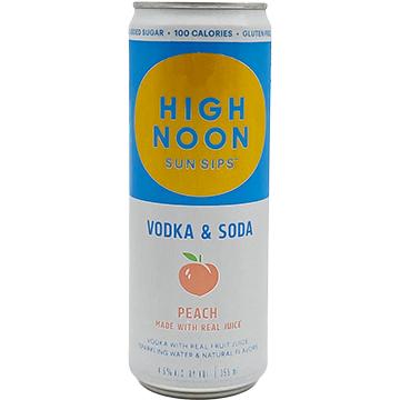 High Noon Sun Sips Peach Vodka & Soda