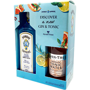 Bombay Sapphire Gin Gift Set with Fever Tree Tonic Water