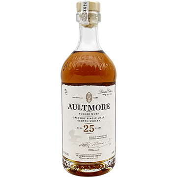 Aultmore 25 Year Old Single Malt Scotch Whiskey