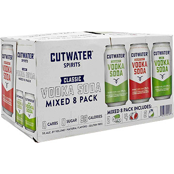 Cutwater Classic Vodka Soda Variety Pack