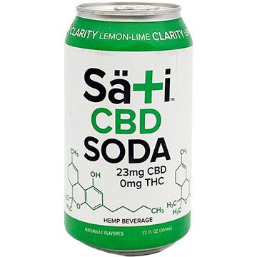 Sati Organics Lemon Lime Clarity CBD Soda