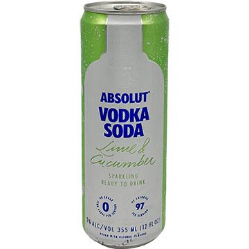 Absolut Vodka Soda Lime & Cucumber