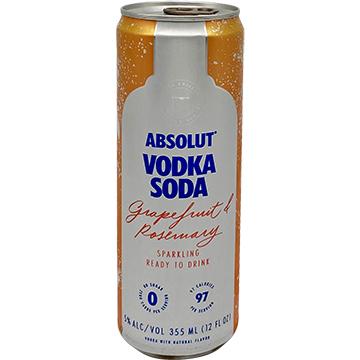 Absolut Vodka Soda Grapefruit & Rosemary
