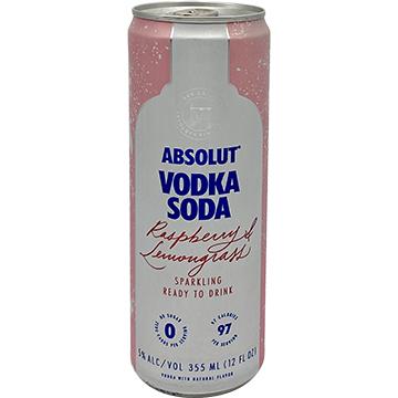 Absolut Vodka Soda Raspberry & Lemongrass