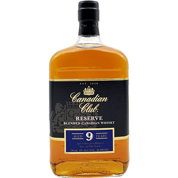 Canadian Club Reserve 9 Year Old Blended Canadian Whiskey
