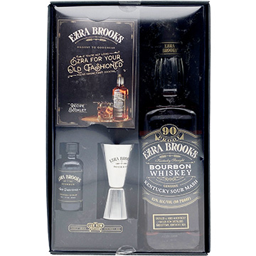 Ezra Brooks Bourbon Gift Set with Old Fashioned Recipe Kit