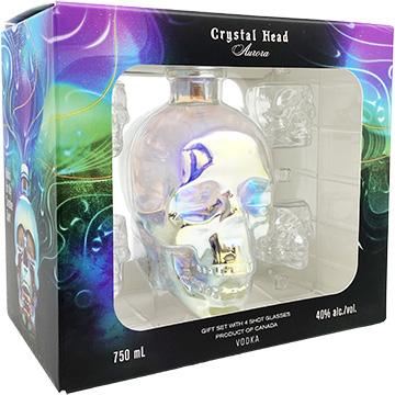 Crystal Head Vodka Aurora Gift Pack with 4 Shot Glasses