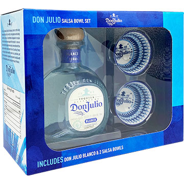 Don Julio Blanco Tequila Gift Set With Two Salsa Bowls