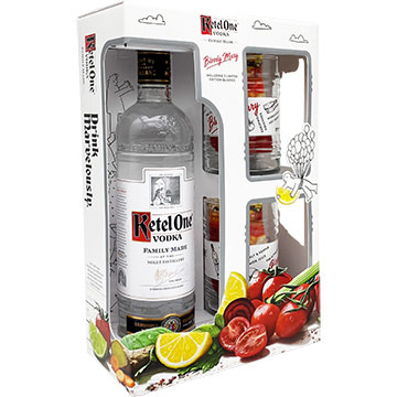 Ketel One Vodka Gift Set with 2 Bloody Mary Glasses