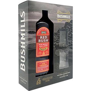 Bushmills Red Bush Whiskey Gift Box with 2 Shot Glasses