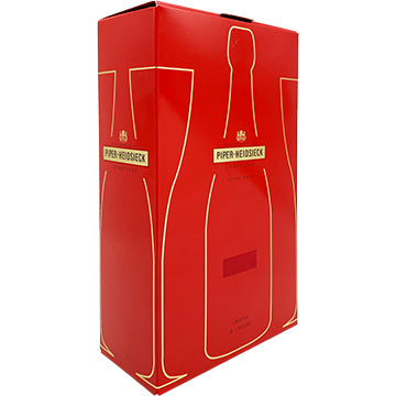 Piper-Heidsieck Brut Champagne Gift Set with 2 Flute Glasses