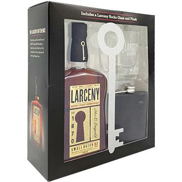 Larceny Small Batch Bourbon Gift Set with Flask & Rocks Glass