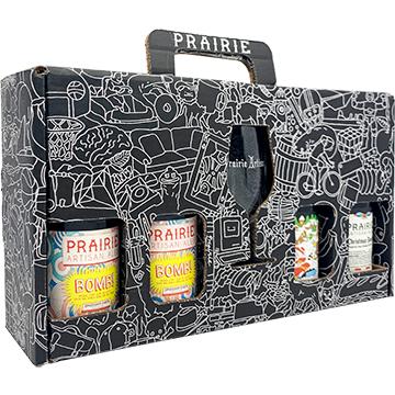 Prairie Christmas Bomb Gift Box with Glass