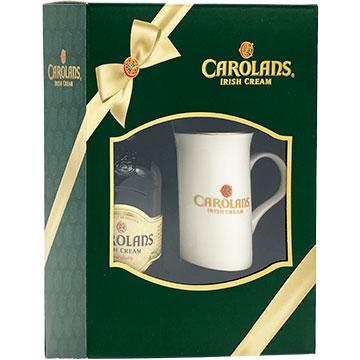 Carolans Irish Cream Liqueur Gift Set with Coffee Mug