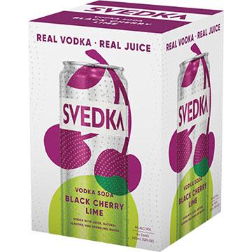 Svedka Black Cherry Lime Vodka Soda