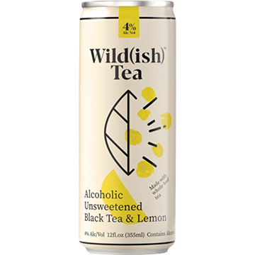 Wild(ish) Alcoholic Unsweetened Black Tea and Lemon