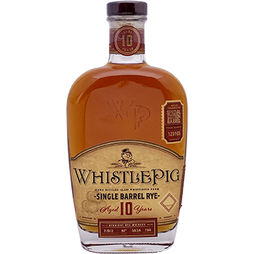 WhistlePig 10 Year Old Single Barrel Rye